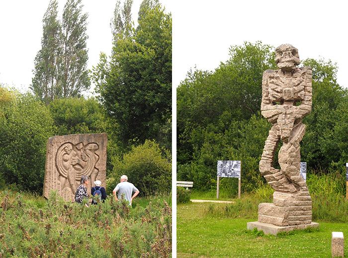 perros guirec parc sculptures