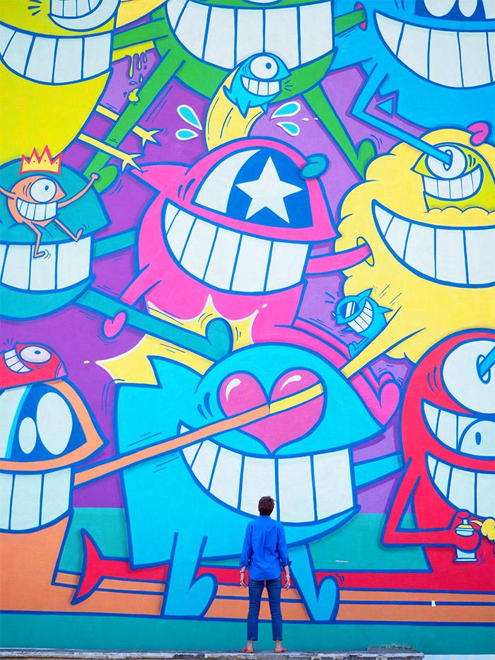 street art Pez roche moliere
