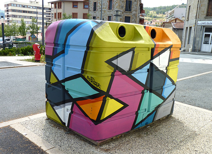 roche la moliere poubelle art