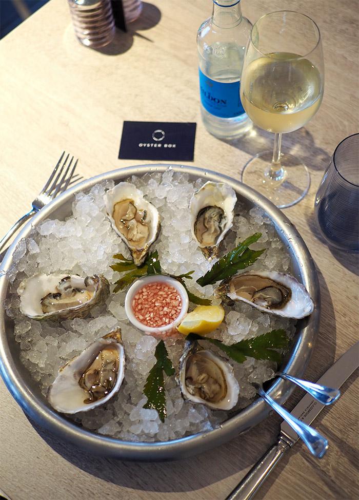 huîtres oyster box jersey brelade bay