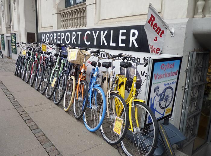 vélos couleur copenhague danemark
