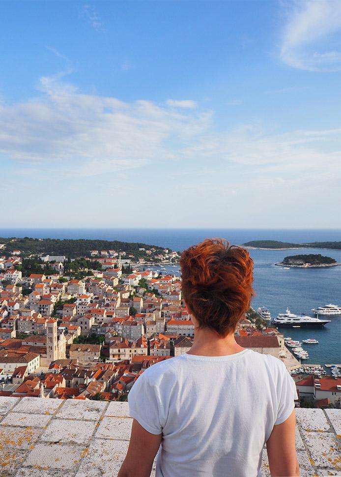 vue forteresse hvar croatie