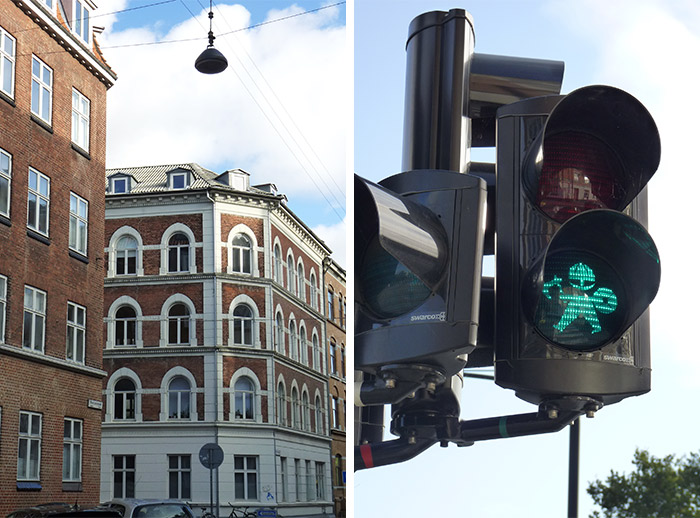 maisons aarhus danemark traffic lights