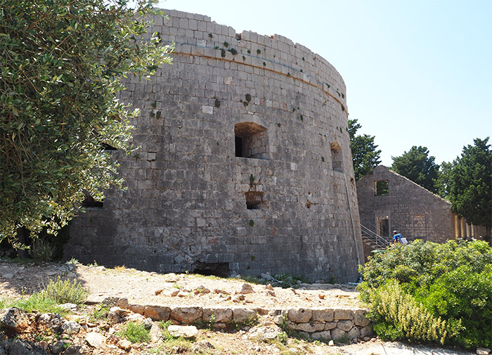 fort royal lokrum ile croatie