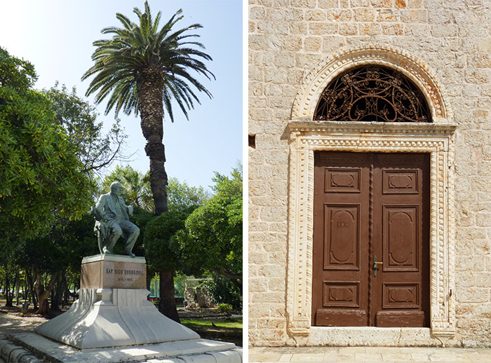 croatie hvar vrboska statue