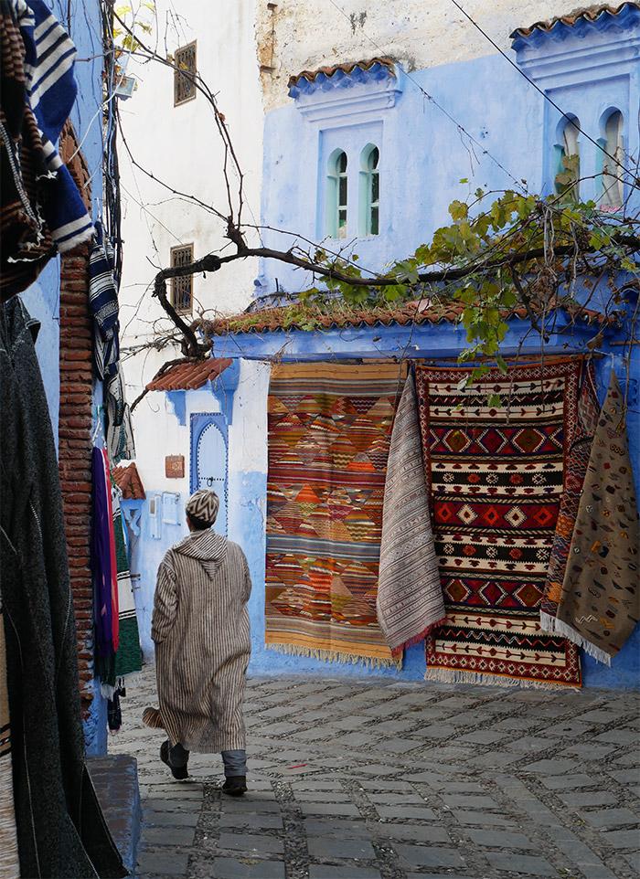 maroc village chefchaouen bleu