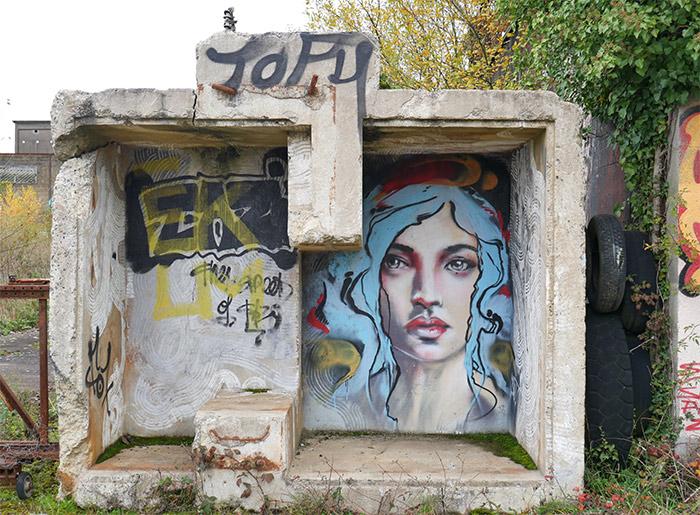street art jef graffik redon