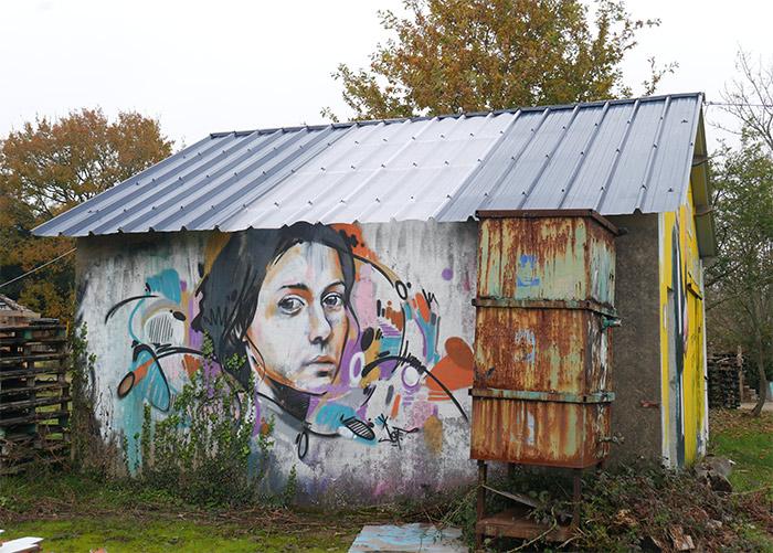 jef graffik redon street art friche
