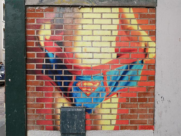 bouchon artist rennes superman slip