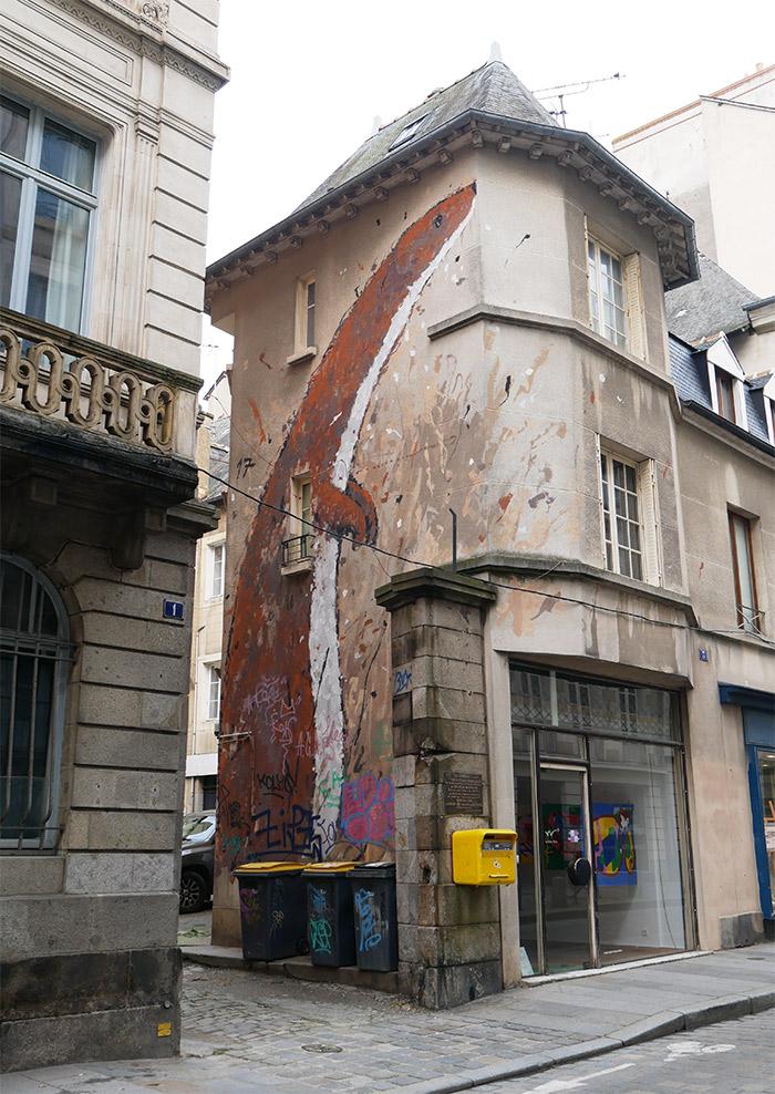WAR artiste Rennes hermine street art