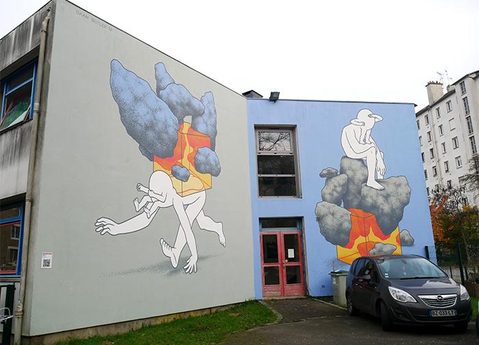 Dann Botlek street art Rennes Colombiers