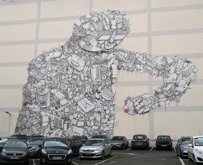 rennes blu artiste italien street art