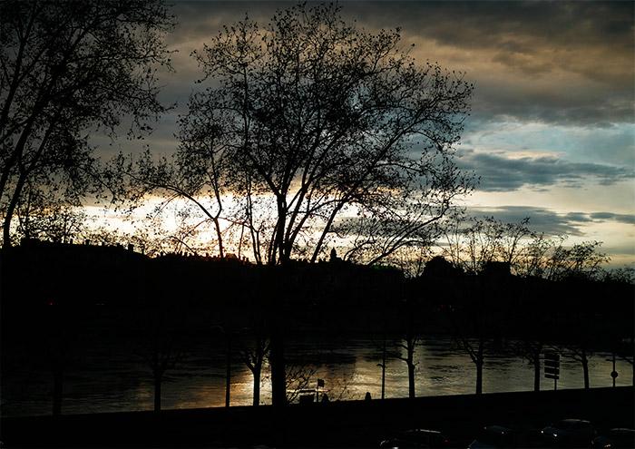 lyon berges rhone lever soleil