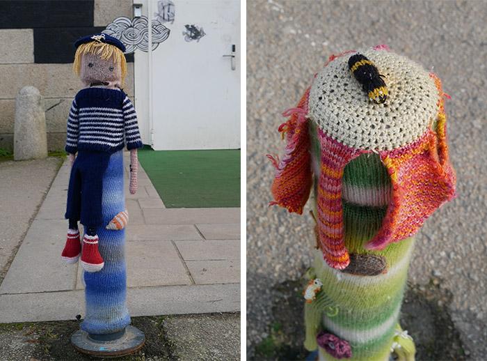 vannes yarn bombing tricot crochet