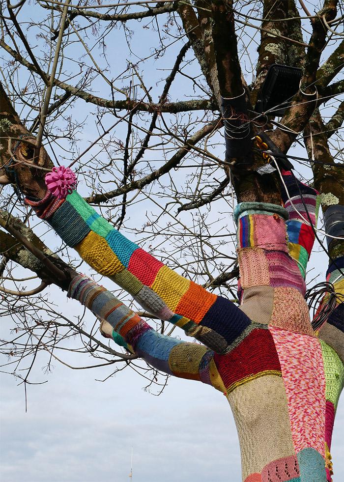 yarn bombing vannes dedale