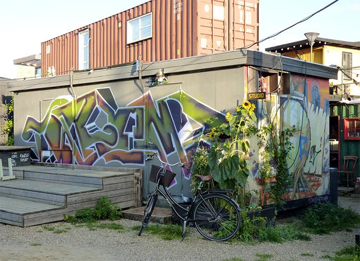 Danemark Aarhus Godsbanen container