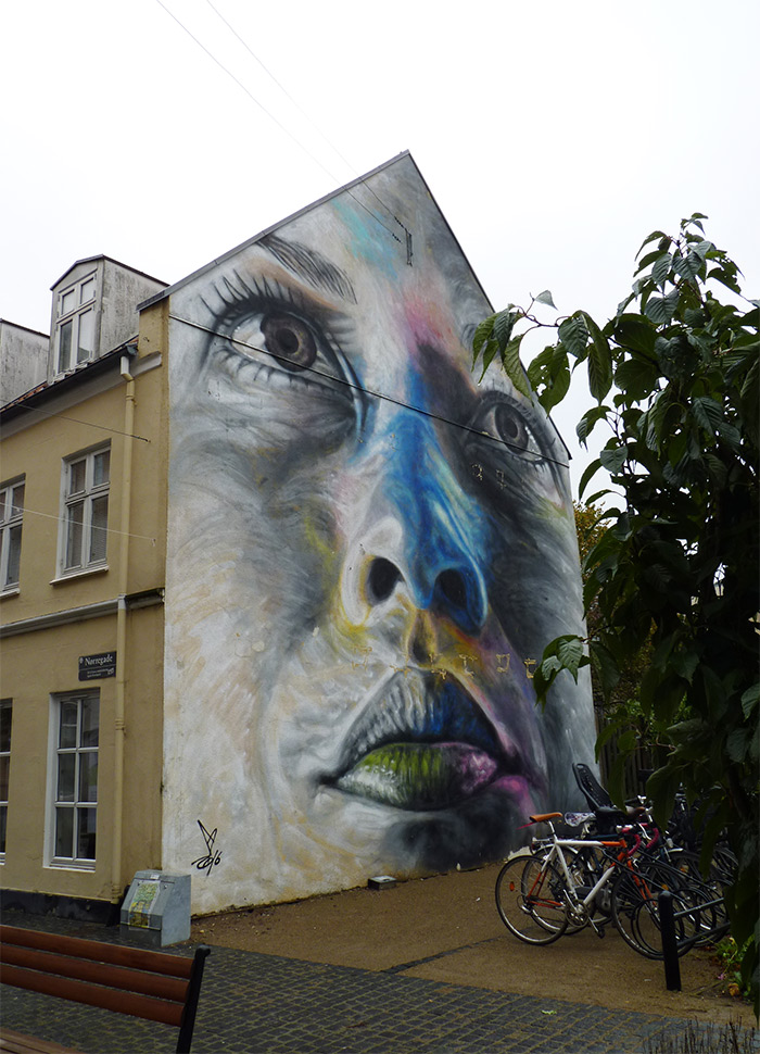 david walker street art aalborg mural