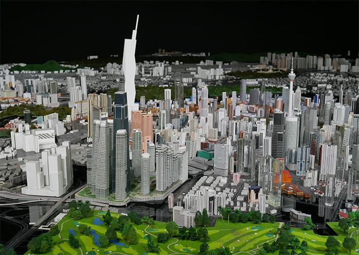 maquette gratte ciel kuala lumpur city gallery
