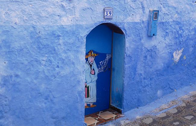 village bleu maroc chefchaouen