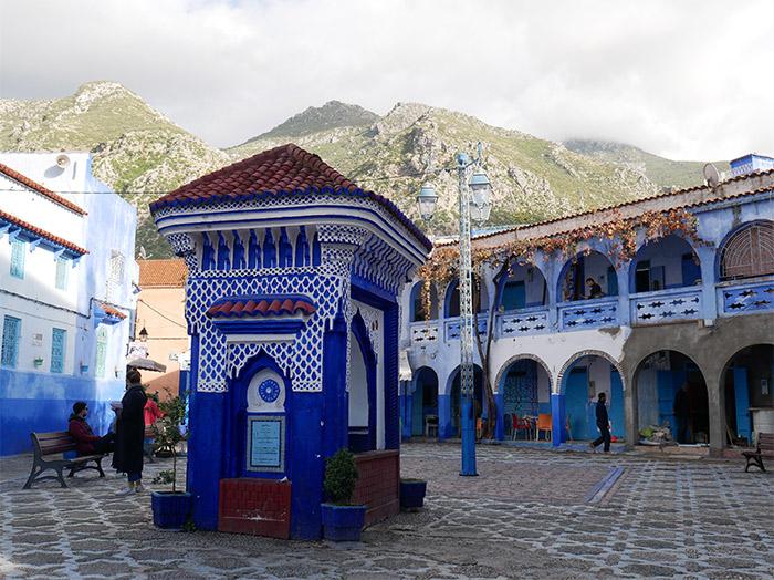 chefchaouen maroc fontaine publique