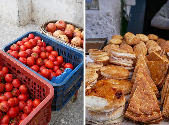souk tetouan maroc tomate gateaux pain
