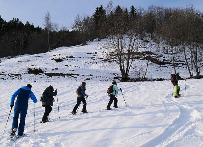 balade en raquettes vaujany neige