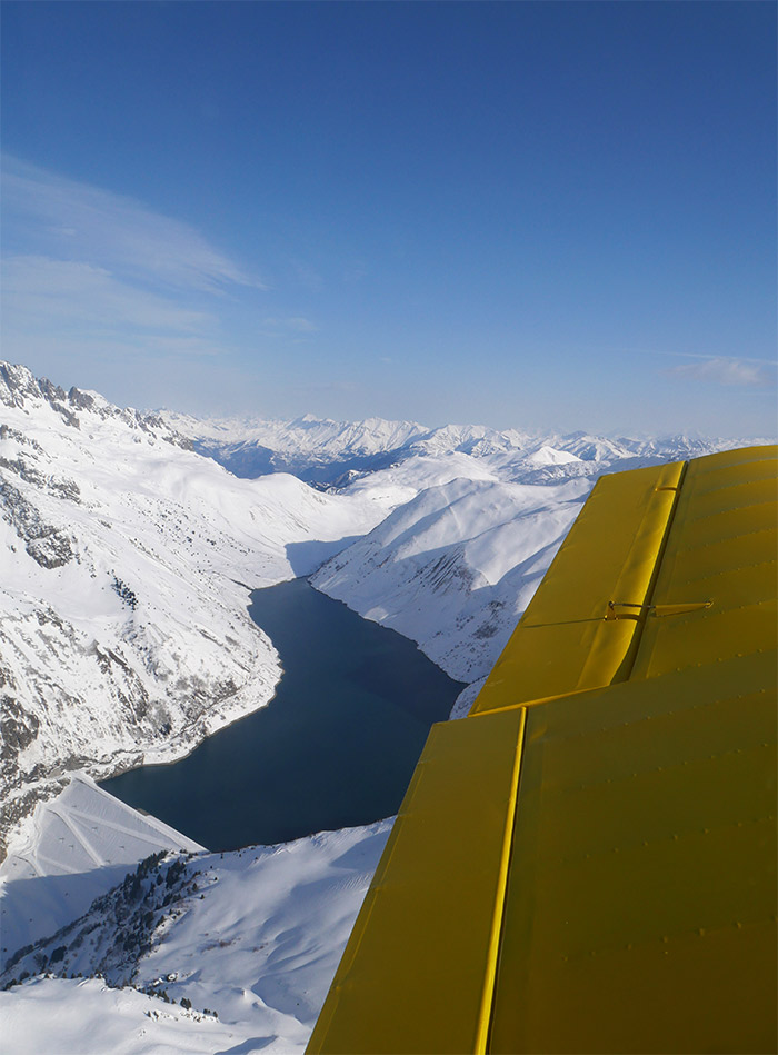 survol avion massif oisans