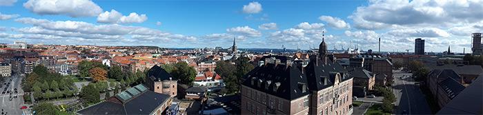 vue depuis musee ArOs Aarhus danemark
