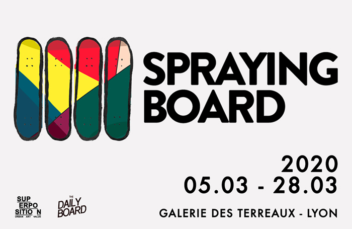 lyon expo spraying board skate art