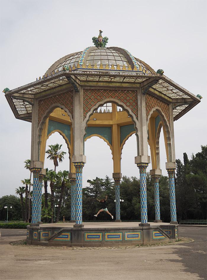 caltagirone jardin public kiosque
