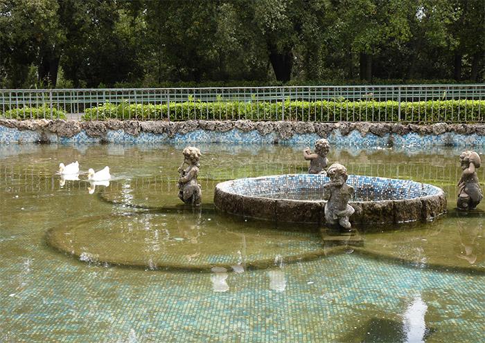 Caltagirone jardin public Sicile