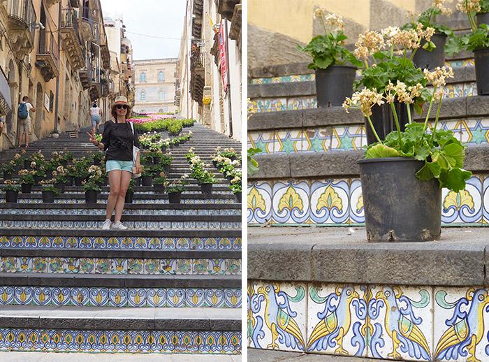 escalier santa maria caltagirone sicile