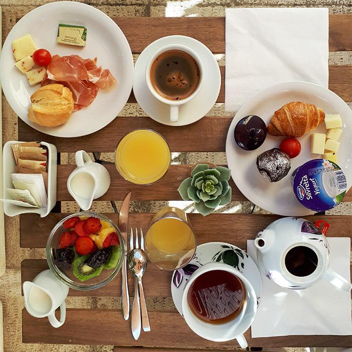 petit dejeuner hotel Ragusa Sicile