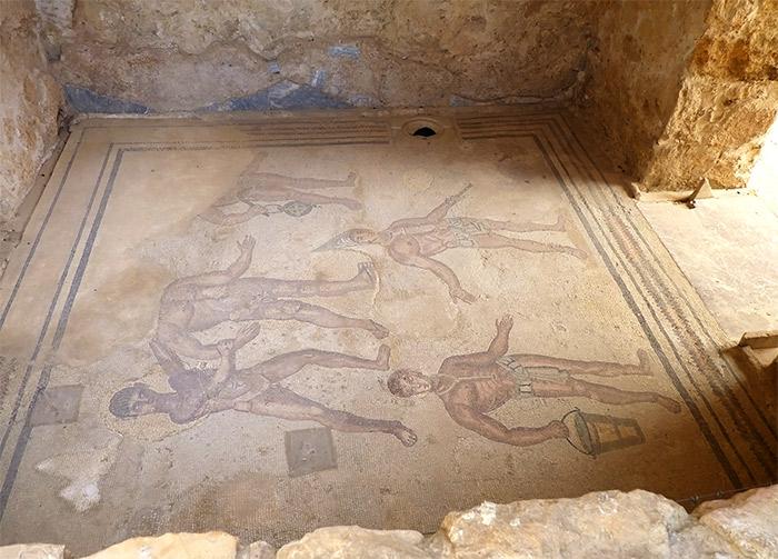 sicile villa romaine casale mosaique