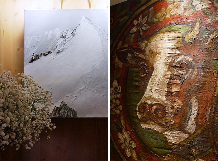barmes ours hotel art peinture