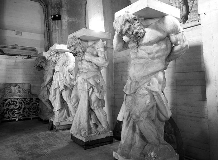 tour chateau rosenborg statues