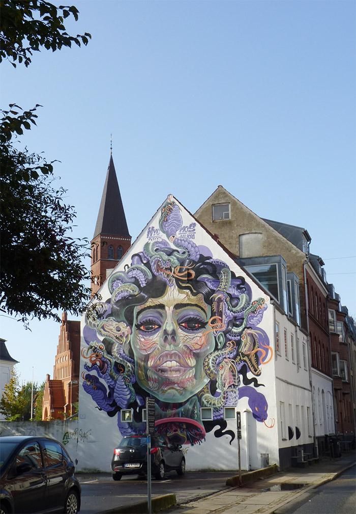 aalborg street art danemark nychos