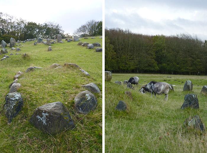 viking cimetiere tombes Lindholm Høje