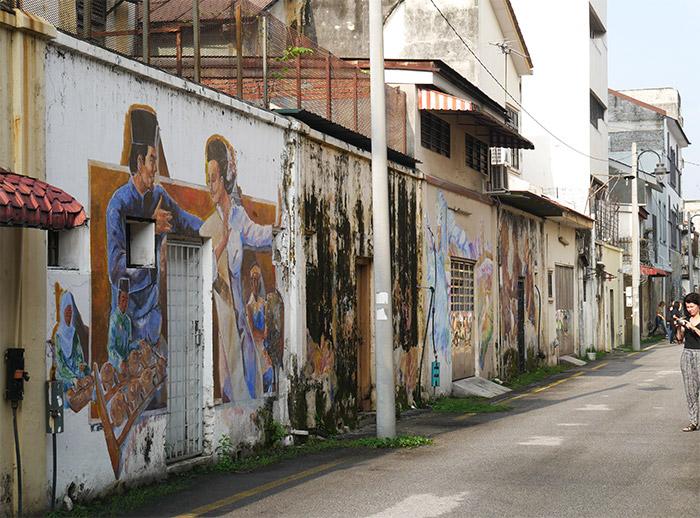 murals lane ipoh malaisie