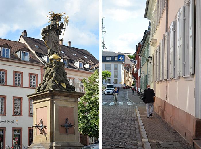 kornmarkt heidelberg statue madone