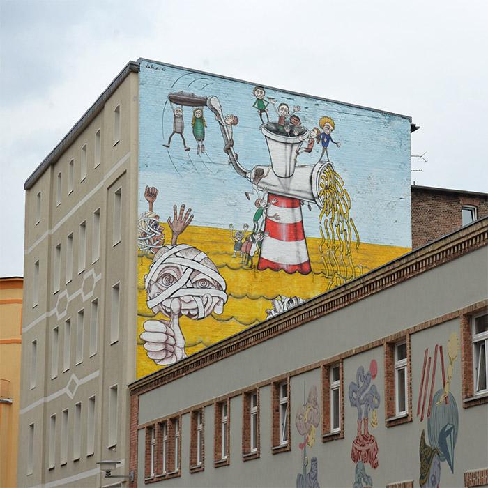 fresques halle allemagne art