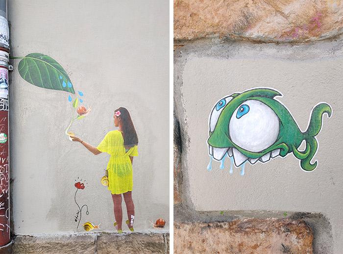 cap phi marquise street art lyon