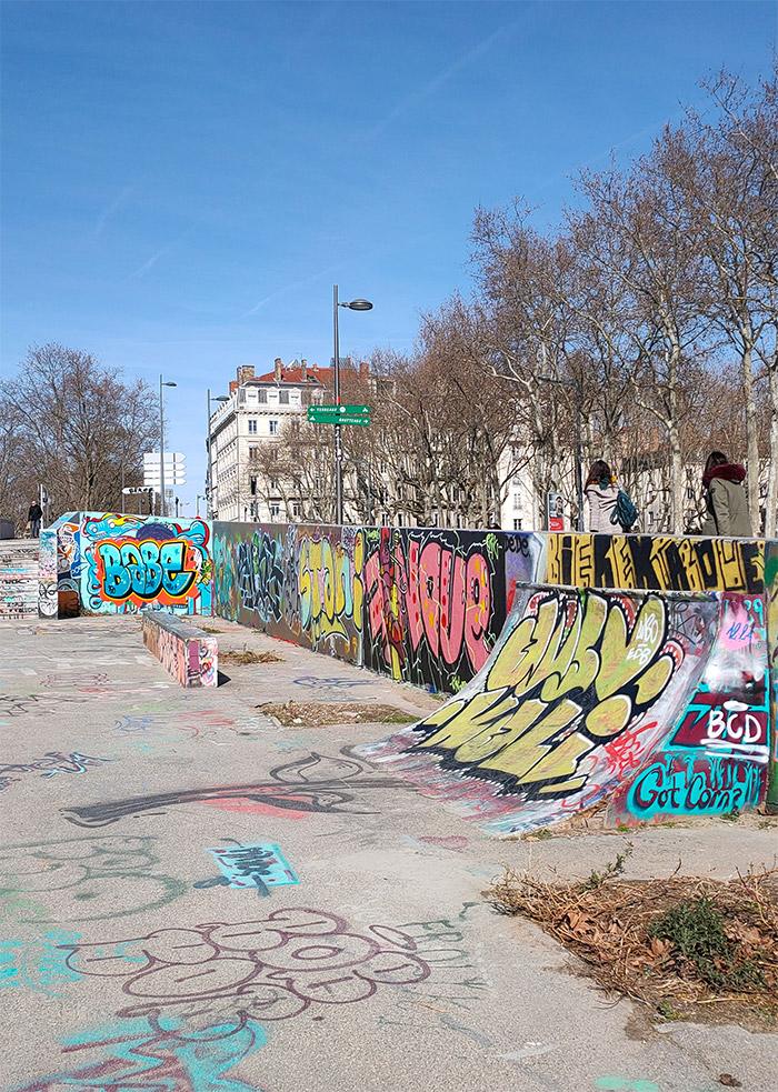 graffiti lyon skate park foch