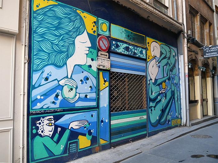 wenc street art lyon rue longue