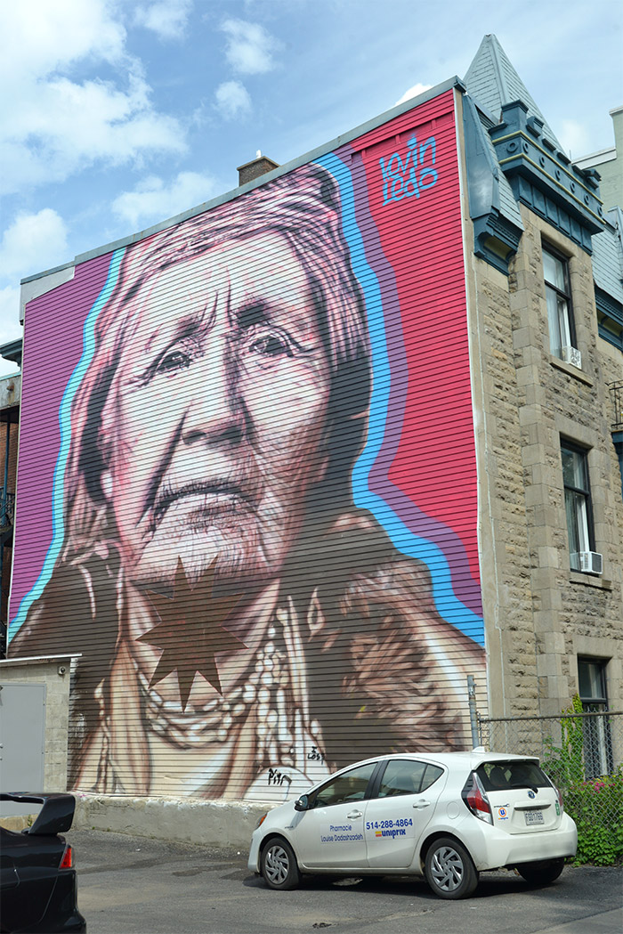festival street art montreal Kevin Ledo indienne
