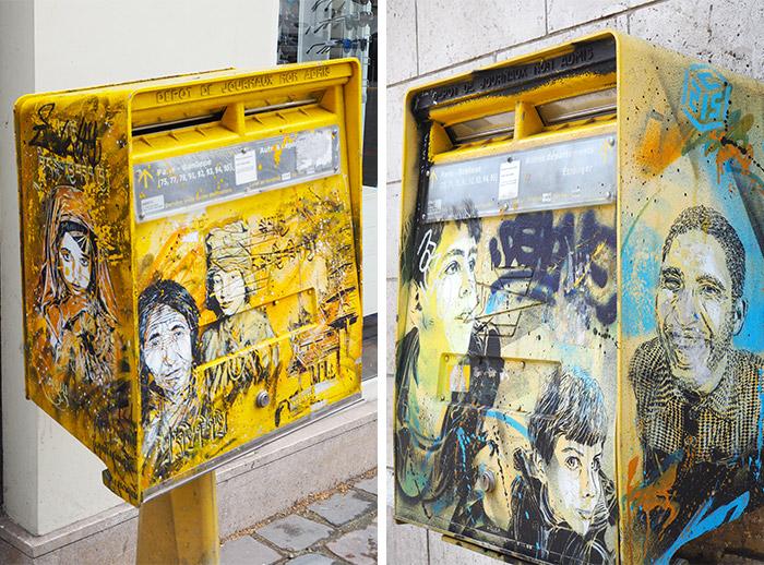 vitry sur seine C215 street art boite lettres