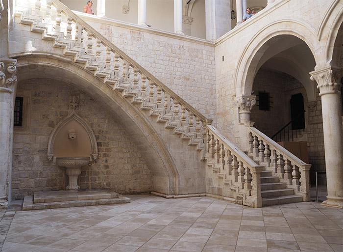 dubrovnik palais recteur cour