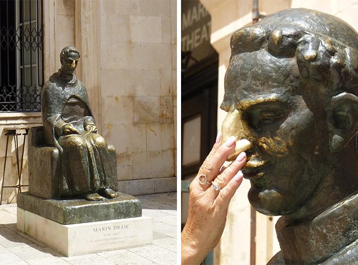 dubrovnik statue marin drzic