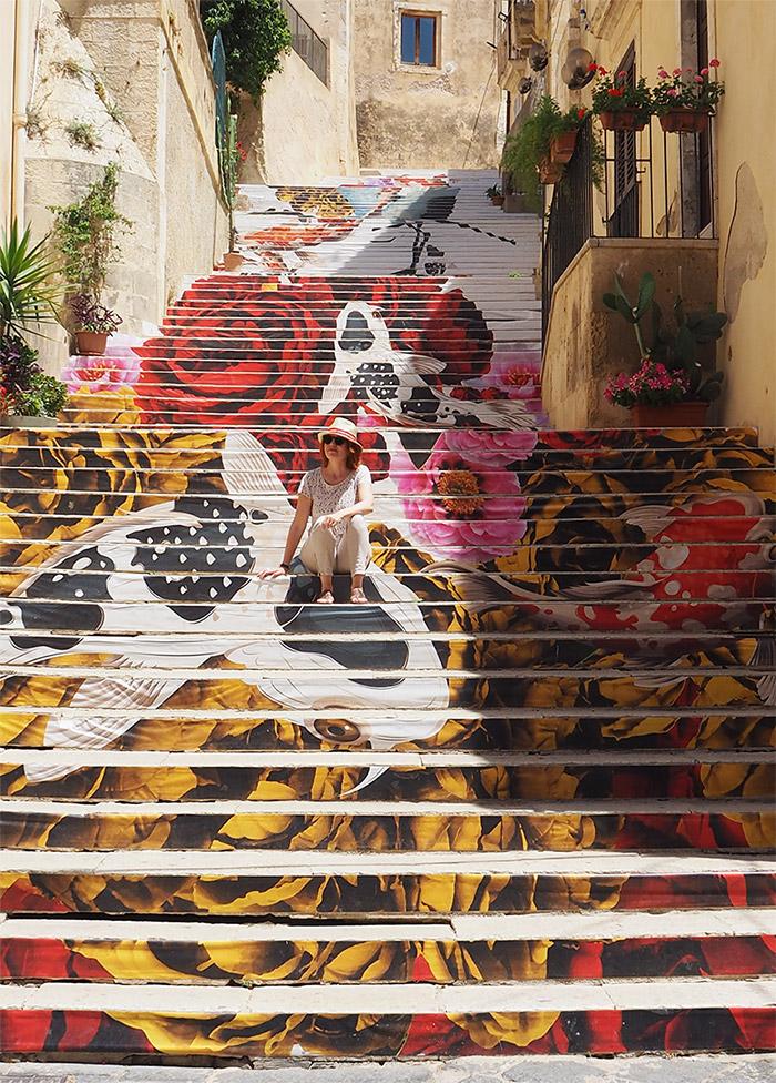 noto sicile escalier