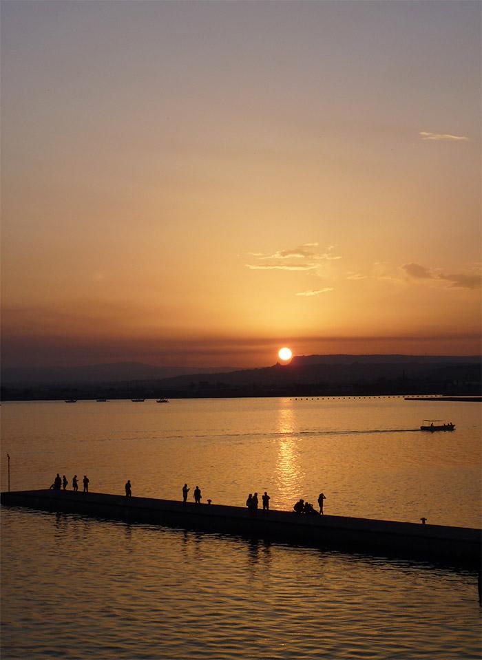 ortigia sicile coucher soleil sunset